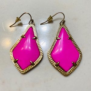 Kendra Scott Hot Pink Drop Elle Earrings